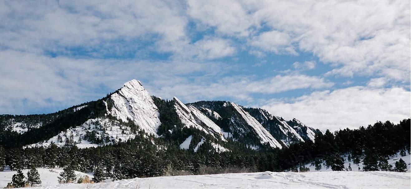 Flatiron mountain landscape in Boulder, Colorado