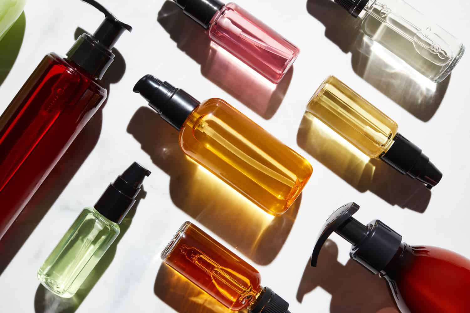 Colorful glass cosmetics packaging